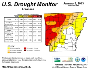 Jan. 8 U.S. Drought Monitor map (Image courtesy U.S. Drought Monitor)