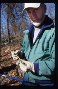 For more than a decade, Distinguished Professor David Stahle has taken core samples from trees and examined the chronology of their rings to help explain the societal impact of drought and other climate changes.