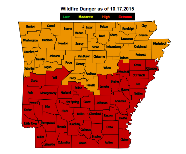 Fire weather in Arkansas | Arkansas Drought Resource Center